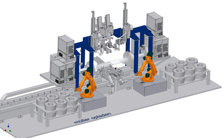 Pipe Flange Welding 3d Profilbrennschneiden Automatisiertes Mig Process Diagram Machine Rfsm 300 6000 1 For The Simultaneous Internal And External