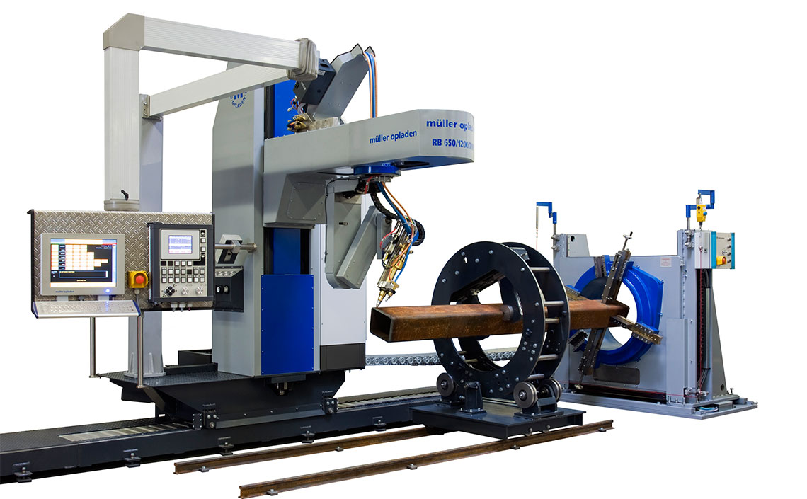 pipe profiling and beam profiling machine
