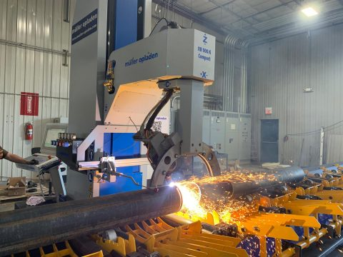cnc pipe profiler machines for cutting with plasma or oxy-fuel