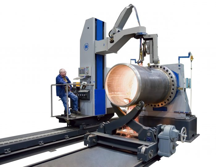 cutting machine for pressure vessels and vessels