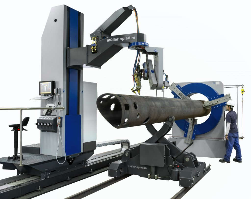 oxy machine for cutting pipes
