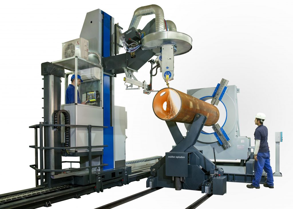 plasma cutting machine for pipe profiling