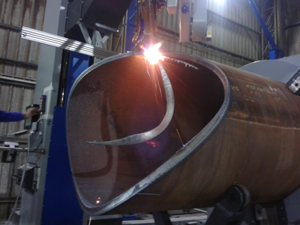 pressure vessel cutting