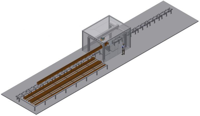 plasma beam cutting machine