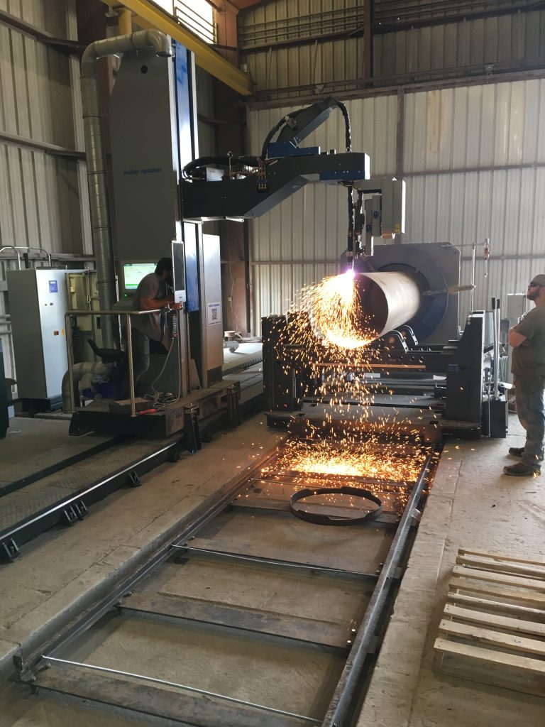 oxy fuel 3D cutting machine for pipes and tubes