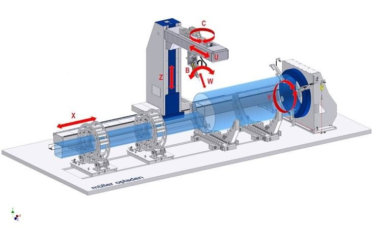 round pipe and vessel profiling cutting machine